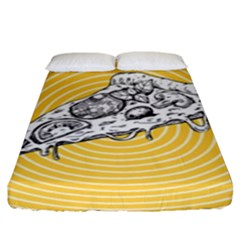 Pop Art Pizza Fitted Sheet (king Size) by Valentinaart
