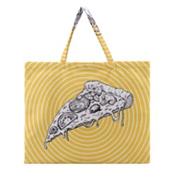 Pop Art Pizza Zipper Large Tote Bag by Valentinaart