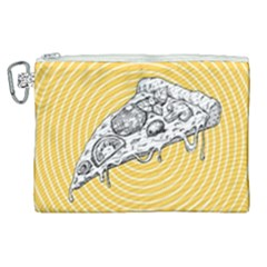 Pop Art Pizza Canvas Cosmetic Bag (xl) by Valentinaart