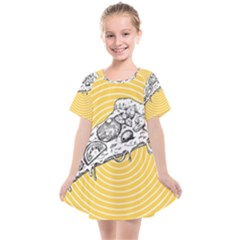 Pop Art Pizza Kids  Smock Dress