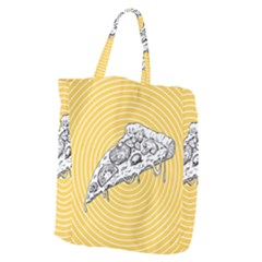 Pop Art Pizza Giant Grocery Tote by Valentinaart