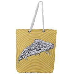 Pop Art Pizza Full Print Rope Handle Tote (large) by Valentinaart