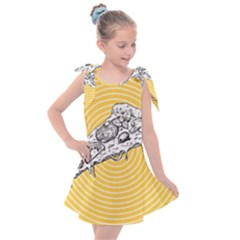 Pop Art Pizza Kids  Tie Up Tunic Dress