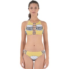Pop Art Hamburger  Perfectly Cut Out Bikini Set