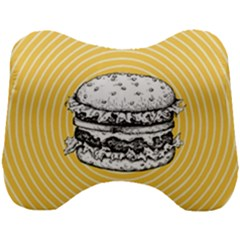 Pop Art Hamburger  Head Support Cushion
