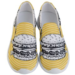 Pop Art Hamburger  Men s Lightweight Slip Ons