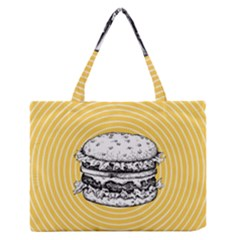 Pop Art Hamburger  Zipper Medium Tote Bag by Valentinaart