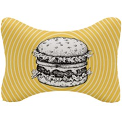 Pop Art Hamburger  Seat Head Rest Cushion by Valentinaart