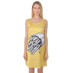 Pop Art French Fries Sleeveless Satin Nightdress by Valentinaart