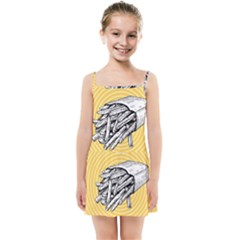 Pop Art French Fries Kids Summer Sun Dress
