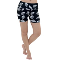 Fast Food Pattern Lightweight Velour Yoga Shorts