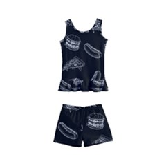 Fast Food Pattern Kid s Boyleg Swimsuit