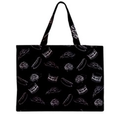 Fast Food Pattern Zipper Medium Tote Bag by Valentinaart