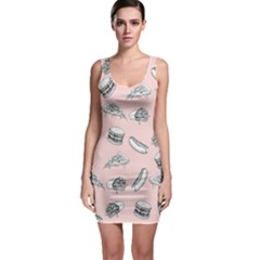 Fast Food Pattern Bodycon Dress