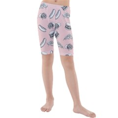 Fast Food Pattern Kids  Mid Length Swim Shorts