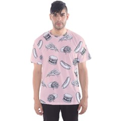 Fast Food Pattern Men s Sports Mesh Tee