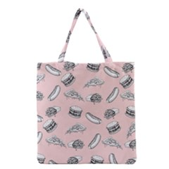 Fast Food Pattern Grocery Tote Bag