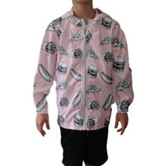 Fast Food Pattern Hooded Windbreaker (kids)