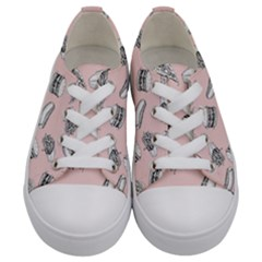 Fast Food Pattern Kids  Low Top Canvas Sneakers