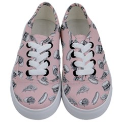 Fast Food Pattern Kids  Classic Low Top Sneakers