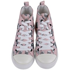 Fast Food Pattern Women s Mid Top Canvas Sneakers