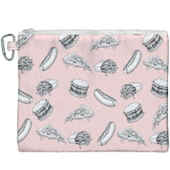 Fast Food Pattern Canvas Cosmetic Bag (xxxl)