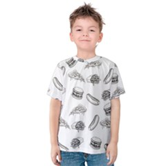 Fast Food Pattern Kids  Cotton Tee