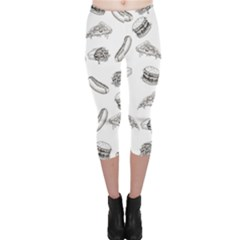 Fast Food Pattern Capri Leggings