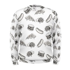 Fast Food Pattern Men s Sweatshirt