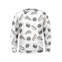 Fast Food Pattern Kids  Sweatshirt
