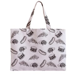 Fast Food Pattern Zipper Mini Tote Bag