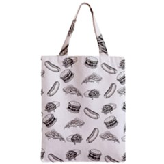Fast Food Pattern Zipper Classic Tote Bag