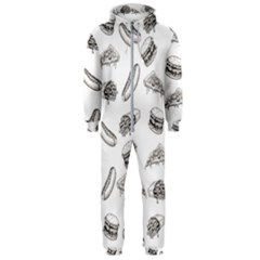 Fast Food Pattern Hooded Jumpsuit (men)