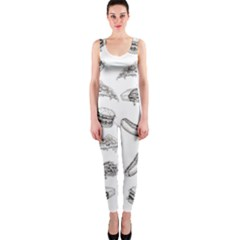 Fast Food Pattern One Piece Catsuit