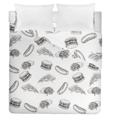 Fast Food Pattern Duvet Cover Double Side (queen Size)