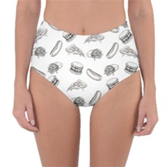Fast Food Pattern Reversible High Waist Bikini Bottoms
