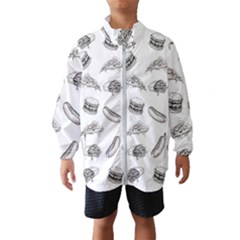Fast Food Pattern Windbreaker (kids)