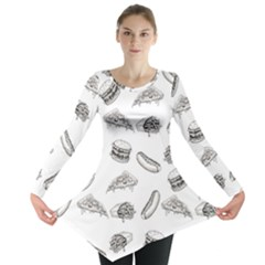 Fast Food Pattern Long Sleeve Tunic