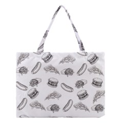 Fast Food Pattern Medium Tote Bag