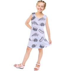 Fast Food Pattern Kids  Tunic Dress