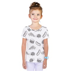 Fast Food Pattern Kids  One Piece Tee