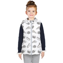 Fast Food Pattern Kid s Hooded Puffer Vest