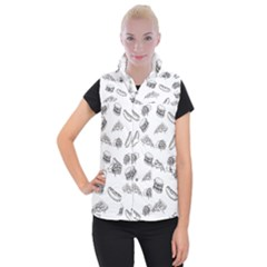 Fast Food Pattern Women s Button Up Vest