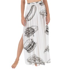 Fast Food Pattern Maxi Chiffon Tie Up Sarong