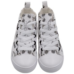 Fast Food Pattern Kid s Mid Top Canvas Sneakers
