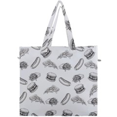 Fast Food Pattern Canvas Travel Bag