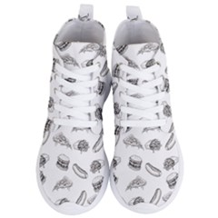 Fast Food Pattern Women s Lightweight High Top Sneakers