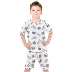 Fast Food Pattern Kid s Set