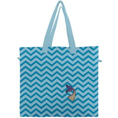 Chevron Mermaid Pattern Canvas Travel Bag by emilyzragz