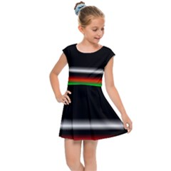 Colorful Neon Background Images Kids Cap Sleeve Dress